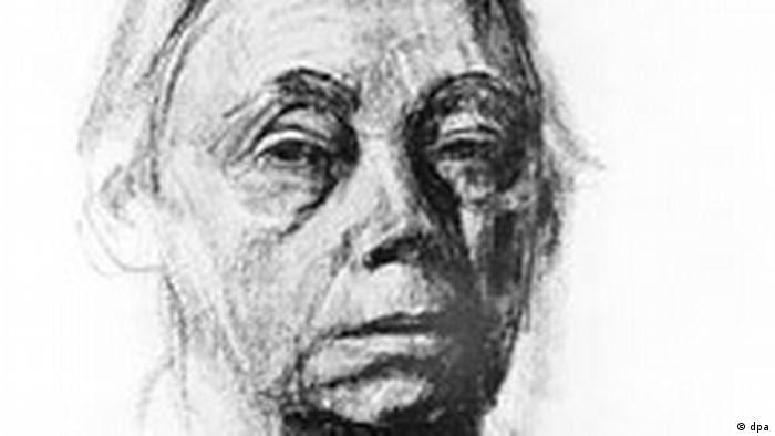Käthe Kollwitz, deutsche Grafikerin und Bildhauerin, Selbstbildnis der Künstlerin aus dem Jahr 1927 (Foto: dpa)
