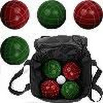 Trademark Games Full Size Premium Bocce Set with Easy Carry