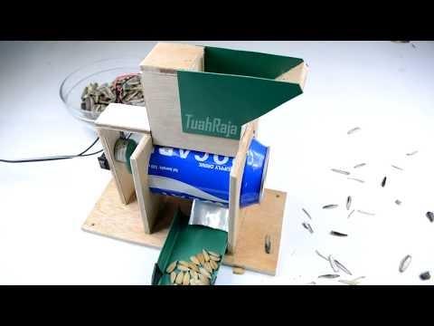 Chế tạo máy tách vỏ hướng dương tự động