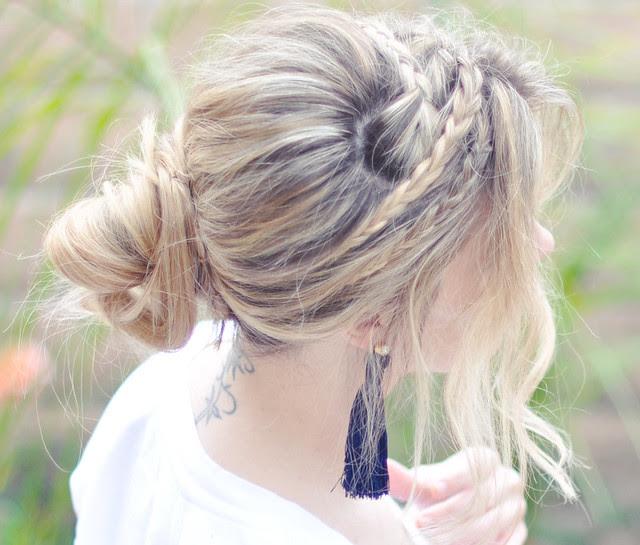 Dağınık Halat Örgü saç öğretici - yan ve püskül küpe
