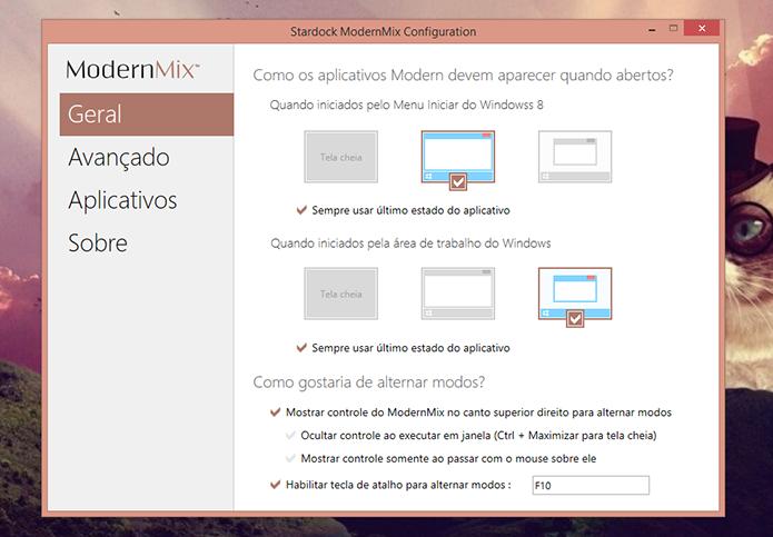 ModernMix oferece a opção de definir padrões para abrir todos os apps do Windows 8 (Foto: Reprodução/Elson de Souza)