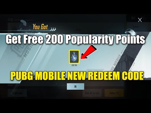 Get Free 200 Popularity Points I SEE YOU || PUBG MOBILE NEW REDEEM CODE ...