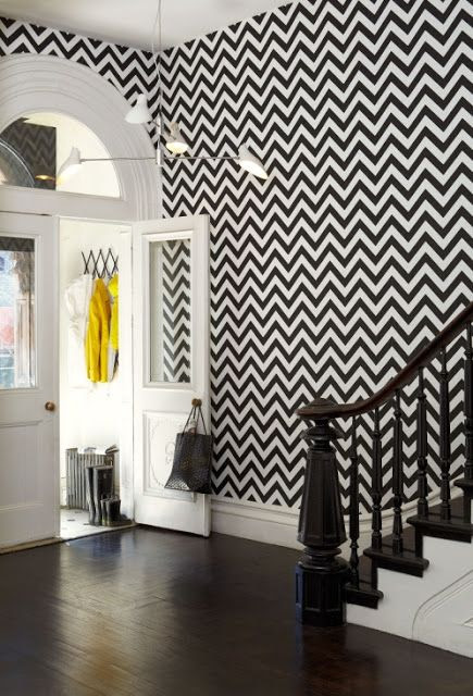 High Fashion Home Blog: Walls in Black and White!