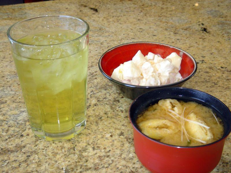 Miso soup & fruit salad