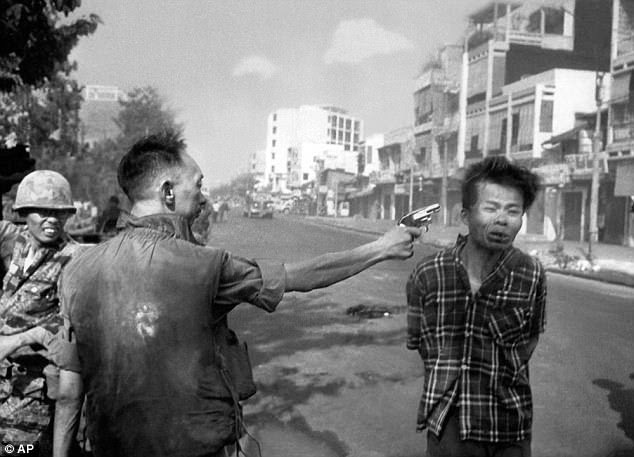 Photographer Eddie Adams¿s now-famous image of Loan shooting Viet Cong officer Nguyen Van Lem  cost the Americans a heavy price in propaganda