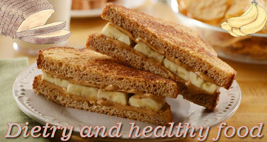Peanut butter and banana sandwich recipe low calorie diet food