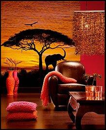 Safari bedroom decorating - wild animal safari theme bedrooms murals