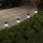 Pure Garden LED Solar Modern Pathway Lights - Set of 24