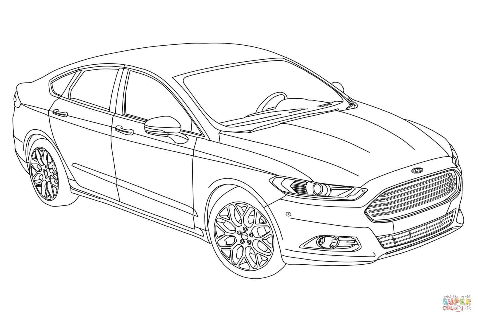 80 Top Coloring Pages Ford Cars Pictures