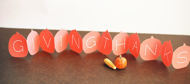 Giving Thanks Pumpkin Cutouts