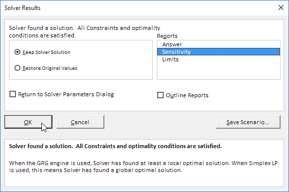 Select Sensitivity