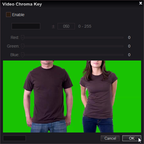 Easy Video Maker, supports Chroma Key Color.