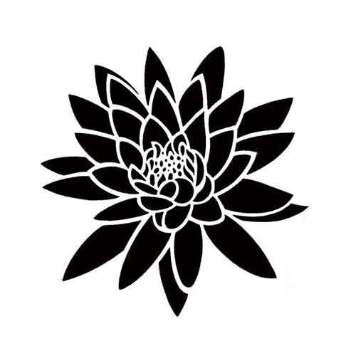 Creative Water Lily Tattoo Design