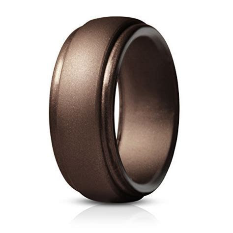 Saco Band Silicone Rings for Men   Single Rubber Wedding