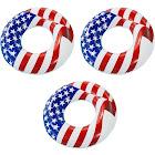 Swimline 36 Inflatable Patriotic American Flag Swimming Pool Float (3 Pack)