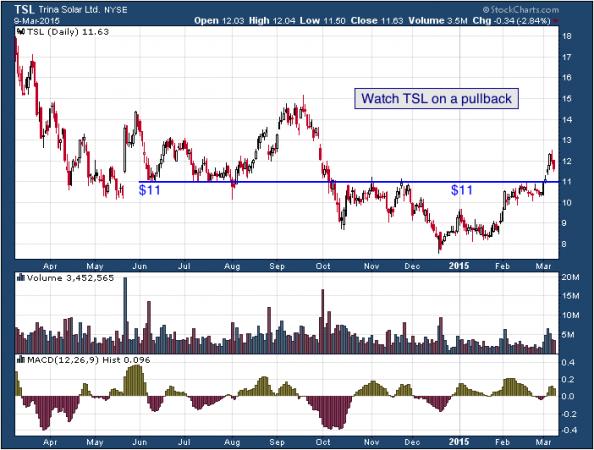 1-year chart of Trina (NYSE: TSL)