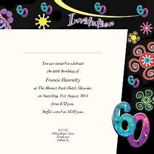 Occasion Card 60 1i   60th Birthday   wedding invitations