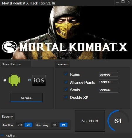 Download Mortal Kombat X Hack for Android and iOS