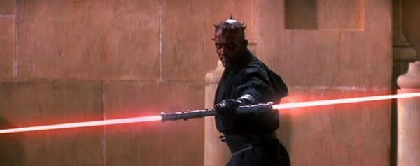 An awesome shot that shows why Darth Maul dying in THE PHANTOM MENACE was a travesty.