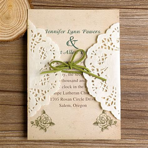 DIY Lace Wedding Invitations Starting from $1.79 at