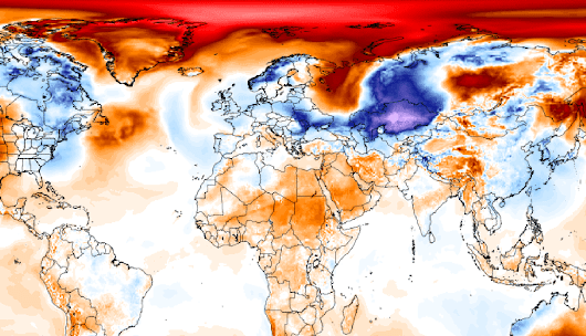 It's about 50 degrees warmer than normal near the North Pole, yet again