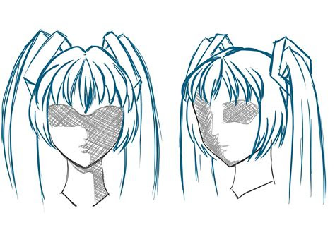 draw animemanga hair draw central