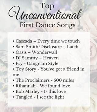 Top Unconventional First Dance Wedding Songs   Wedding Journal