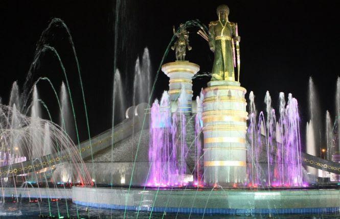 Фонтанный комплекс «Огузхан и сыновья», Ашхабад ...