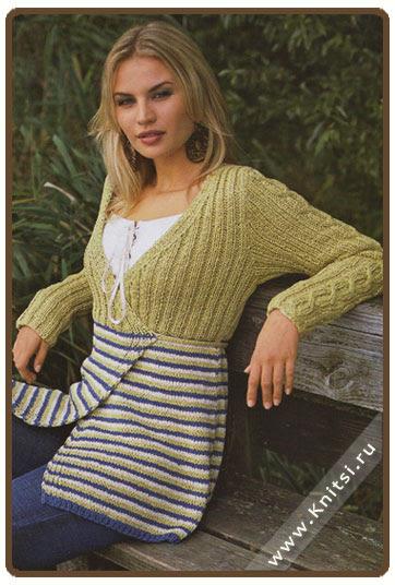 Вязание летних кофточек маек