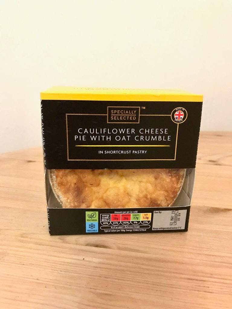 Specially Selected Cauliflower Cheese Pie With Oat Crumble ...