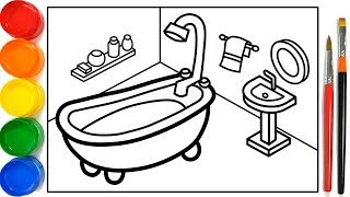 Download Glitter Bathroom Drawing And Coloring Pages For Kids