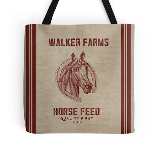 Walker Farms Horse Feed Vintage Sack by marceejean