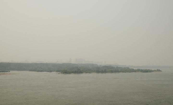 Smoke in Novosibirsk