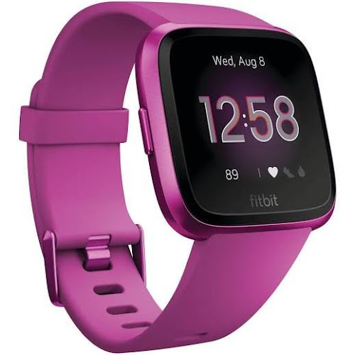 Fitbit Versa - Smart Watch with Heart Rate Monitor - Lite Edition - S/L - Mulberry
