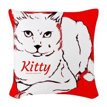 Kitty Name Woven Throw Pillow