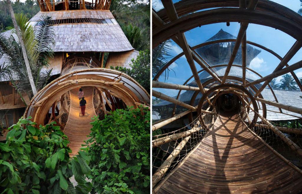 Deixou uma carreira bem sucedida para construir casas sustentáveis de bambú em Bali 03