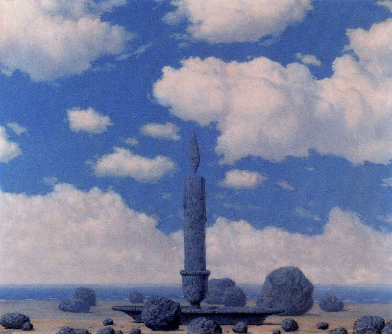 Souvenir from travels Rene Magritte