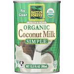 Native Forest Organic Coconut Milk, Simple - 13.5 fl oz can