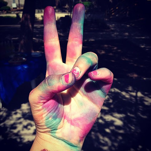 Peace tie dye