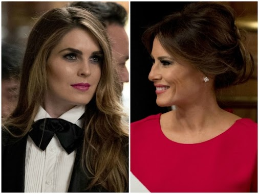[Right Wing Daily]First Lady Melania Trump and White House Communications Director Hope Hicks each held...