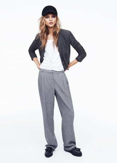Straight-fit flowy trousers
