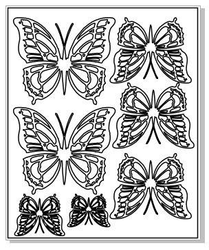 Beauty butterflies 100 x 120 sheet