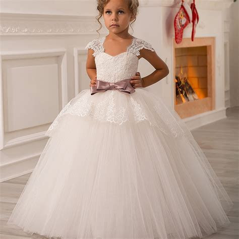 Boho Wedding Dress girl Evening Kids White A White Dresses