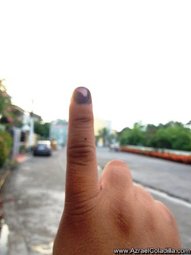 Just voted!!  - 2013 Philippine Election photos by Azrael Coladilla
