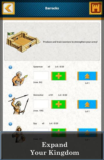 Screenshots of the Ramses: Strategy game for Android tablet, phone.
