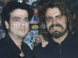 Lead singer Les McKeown of the Scotish band Bay City Rollers with Wolfgang Busch in the early 1990s.