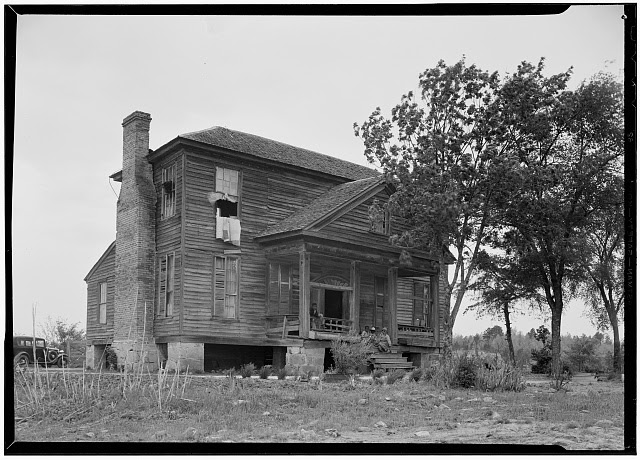 1.  Historic American Buildings Survey, Jas L. Burnett, Photographer April 30, 1940 SOUTHWEST VIEW OF HOUSE. - Obadiah Sealy House, State Route 9, Chester, Chester County, SC