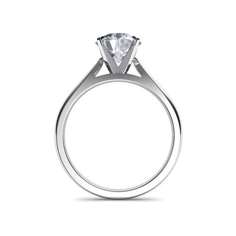 Tapered Cathedral Engagement Ring Natalie Diamonds