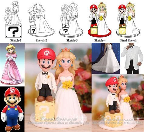 One of the best Mario Wedding Cake toppers I've seen. Have