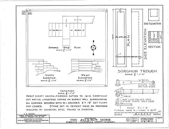 HABS ALA,39-FLO.V,3- (sheet 18 of 18) - Forks of Cypress, Savannah Road (Jackson Road), Florence, Lauderdale County, AL